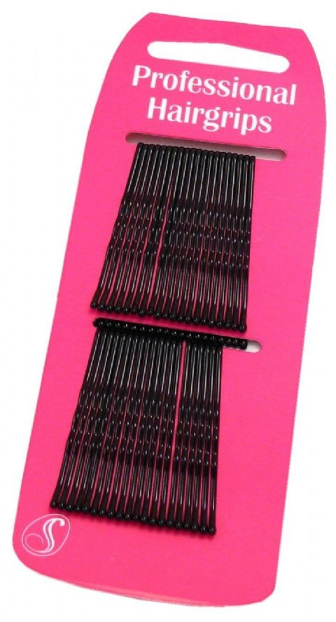 40 Professional Kirby Hair Grips Black